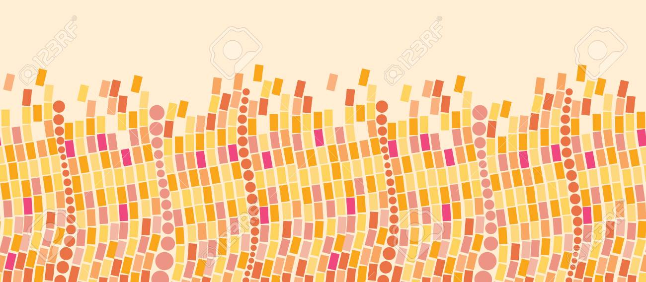 Fire mosaic tiles horizontal seamless pattern background border Stock Vector - 16446320