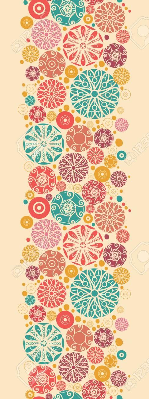 Abstract decorative circles vertical seamless pattern border Stock Vector - 16564789