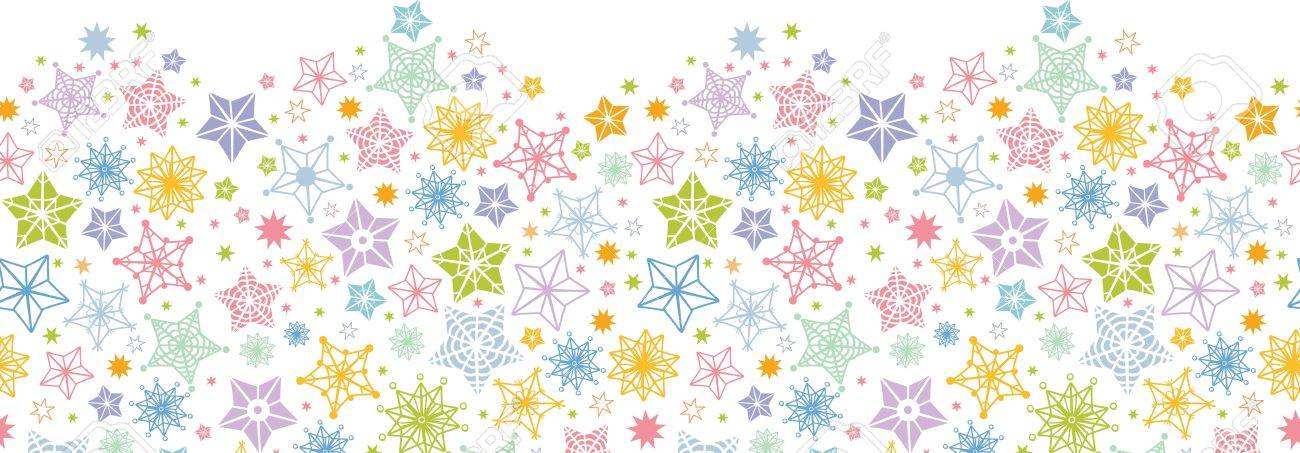 Colorful stars horizontal seamless pattern background border Stock Vector - 16564835