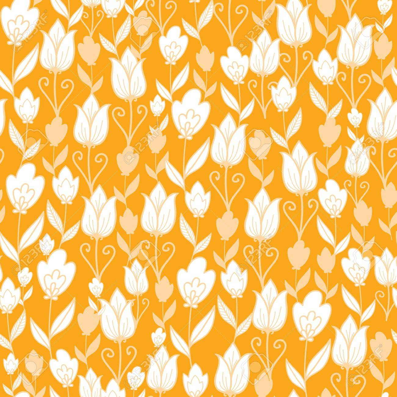 Golden tulips flowers seamless pattern background Stock Vector - 16564782