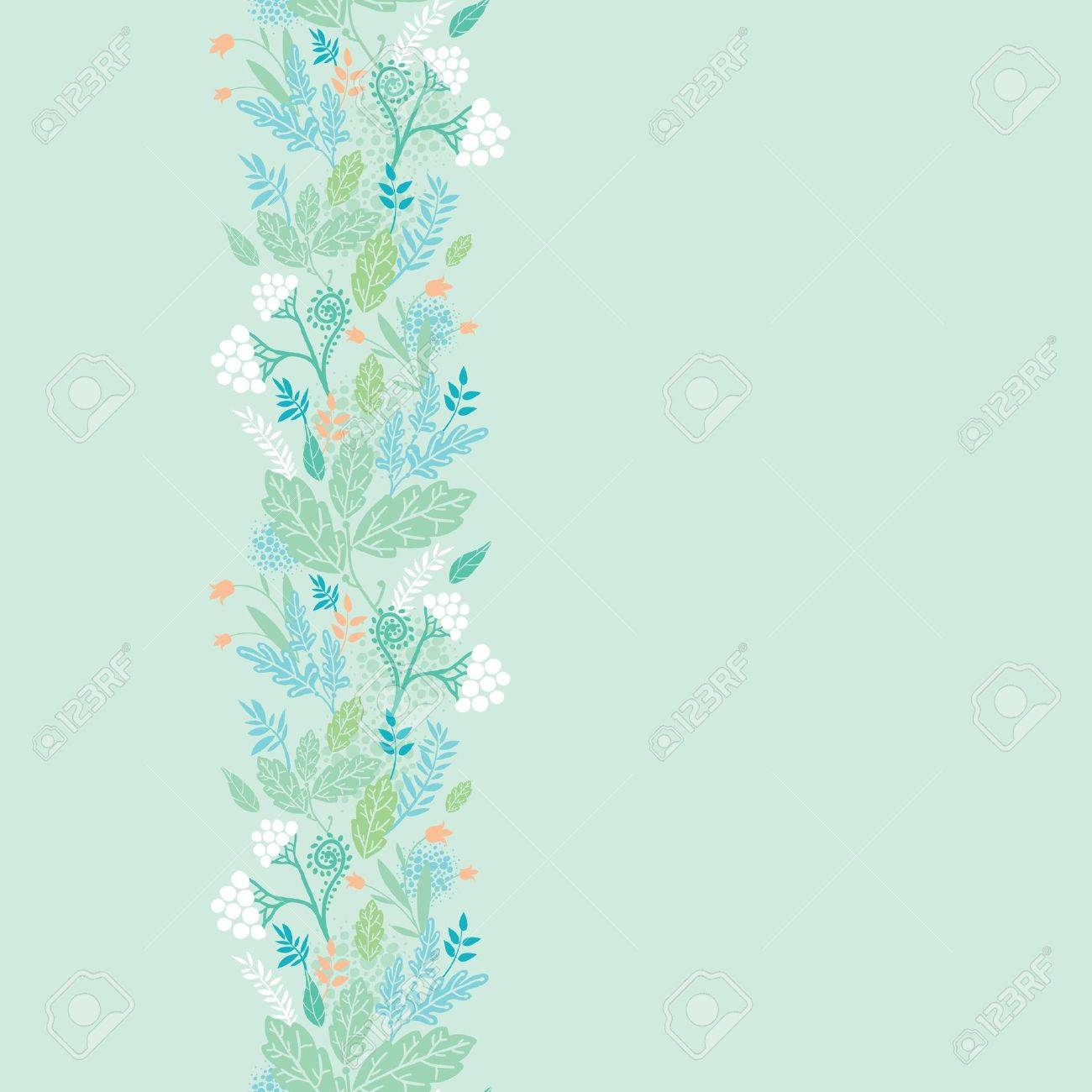 Spring berries vertical seamless pattern background border Stock Vector - 16583030