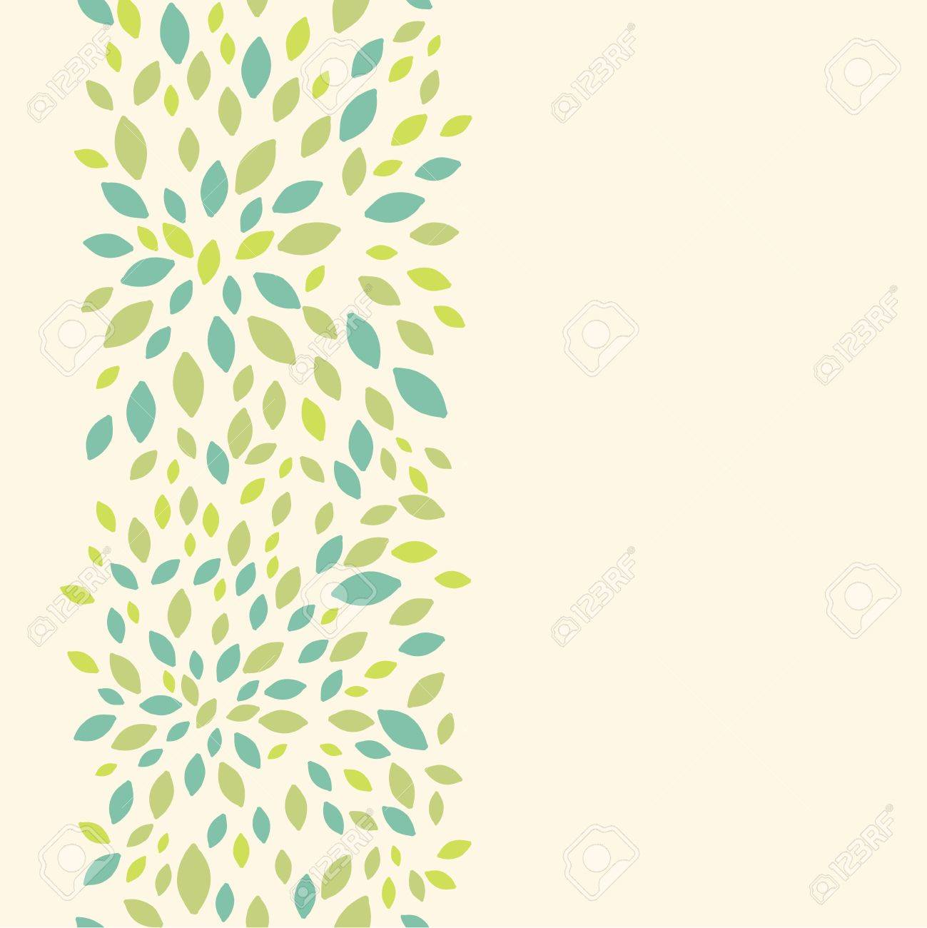 Leaf texture vertical seamless pattern background border Stock Vector - 16627500