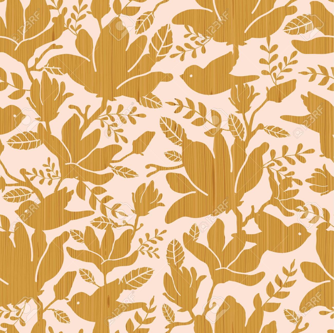 Textured wooden magnolia flowers seamless pattern background Stock Vector - 16675696