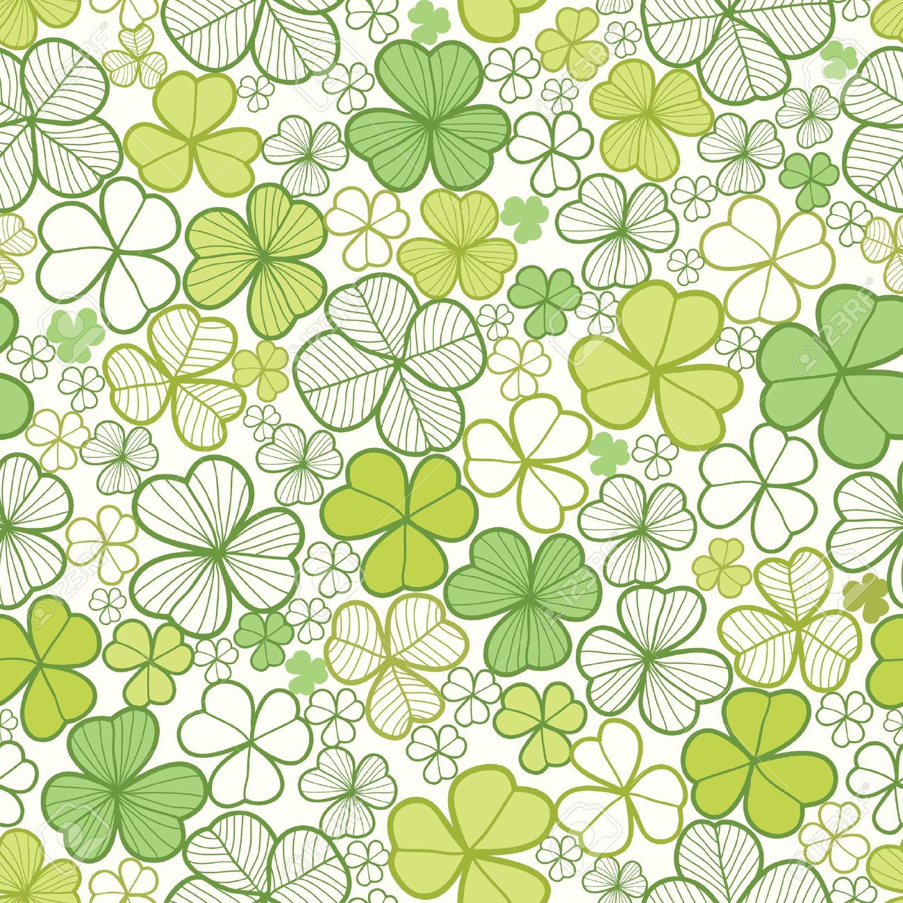 Clover line art seamless pattern background Stock Vector - 16675678