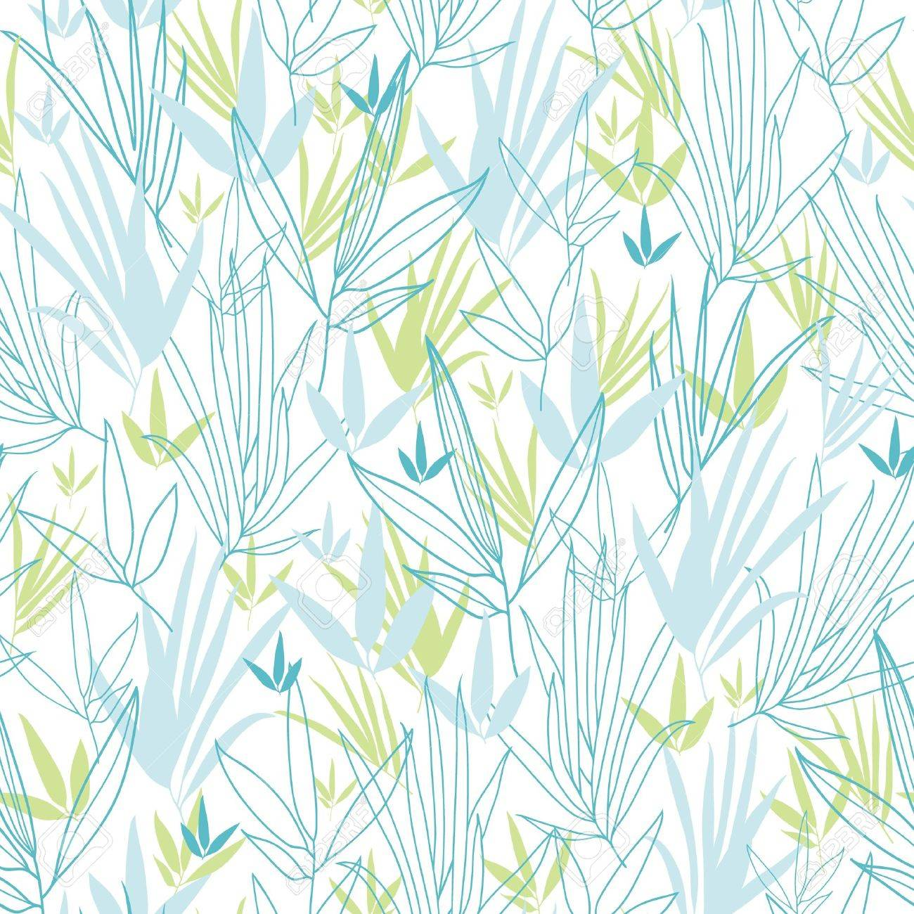 Blue bamboo branches seamless pattern background Stock Vector - 16675673
