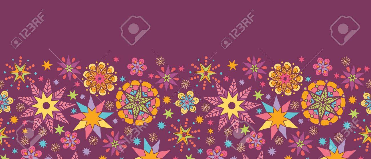 Colorful stars horizontal seamless pattern background border Stock Vector - 16675737