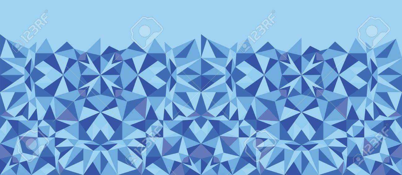 Blue triangle texture horizontal seamless pattern background Stock Vector - 17195331