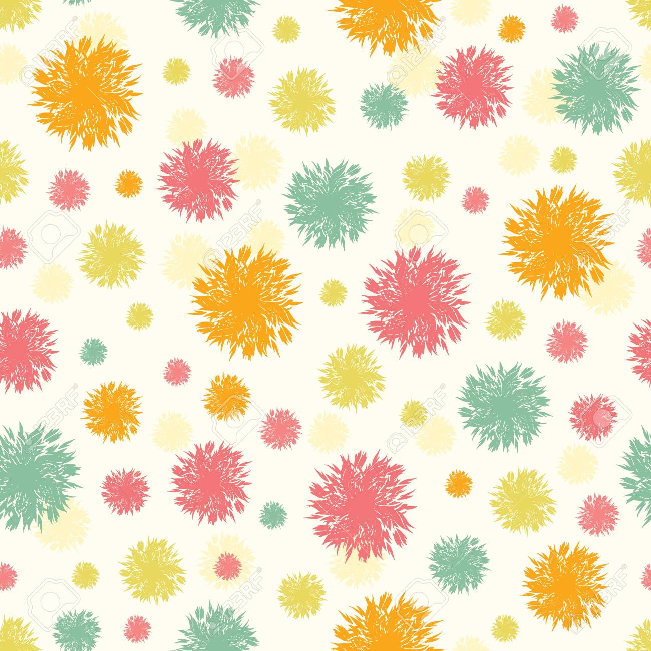 Abstract fluffy shapes seamless pattern background Stock Vector - 17360633