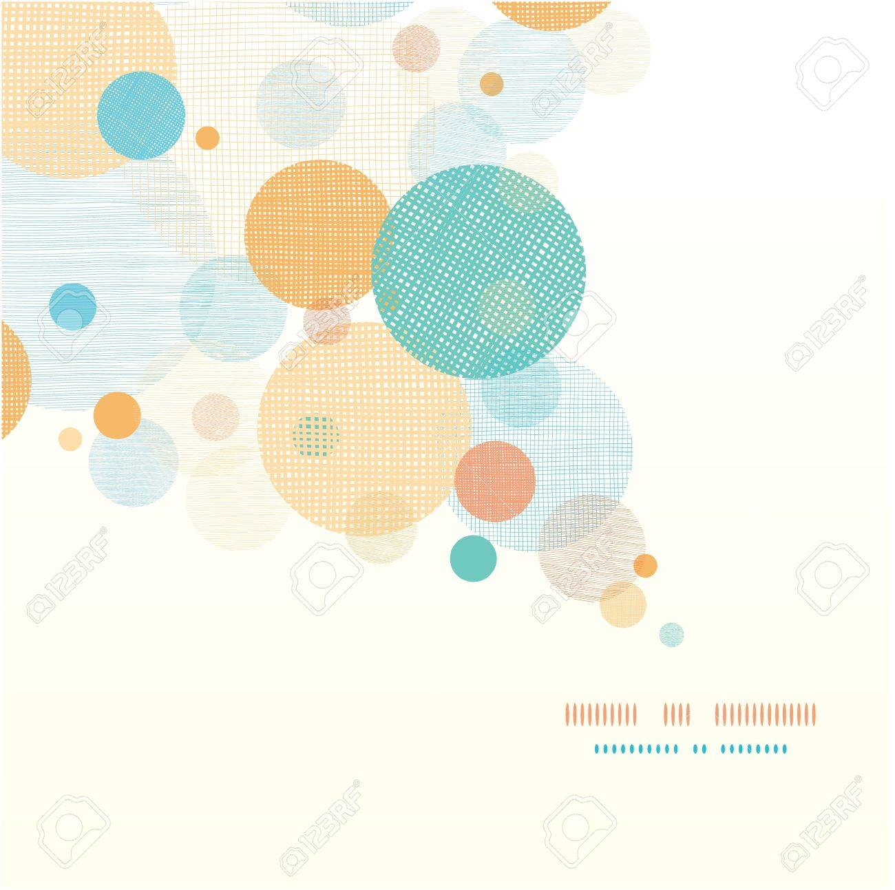 Fabric circles abstract diagonal pattern background Stock Vector - 17428755