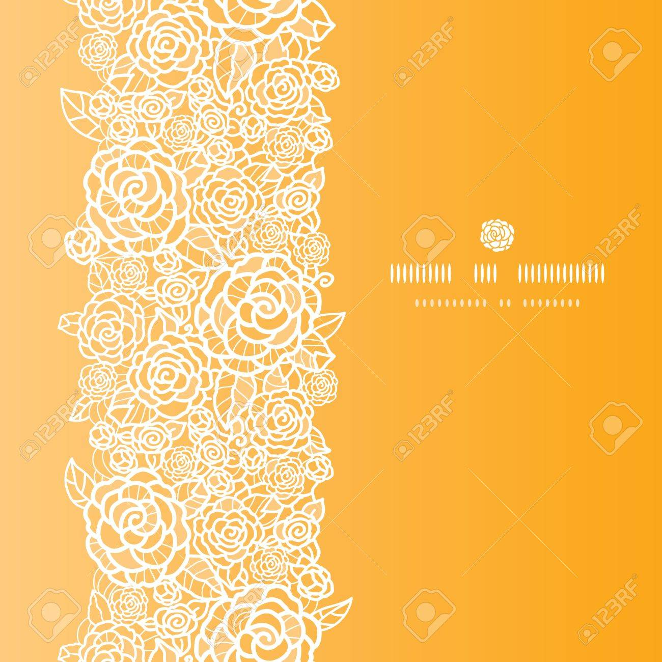 Golden lace roses vertical seamless pattern background Stock Vector - 17497554