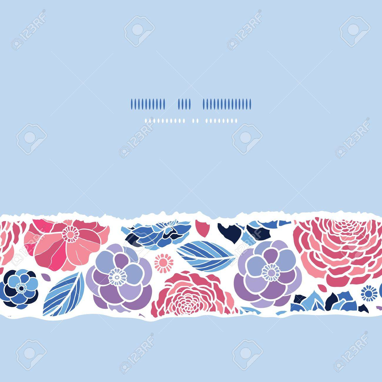 Summer flowers horizontal seamless pattern background Stock Vector - 17590936