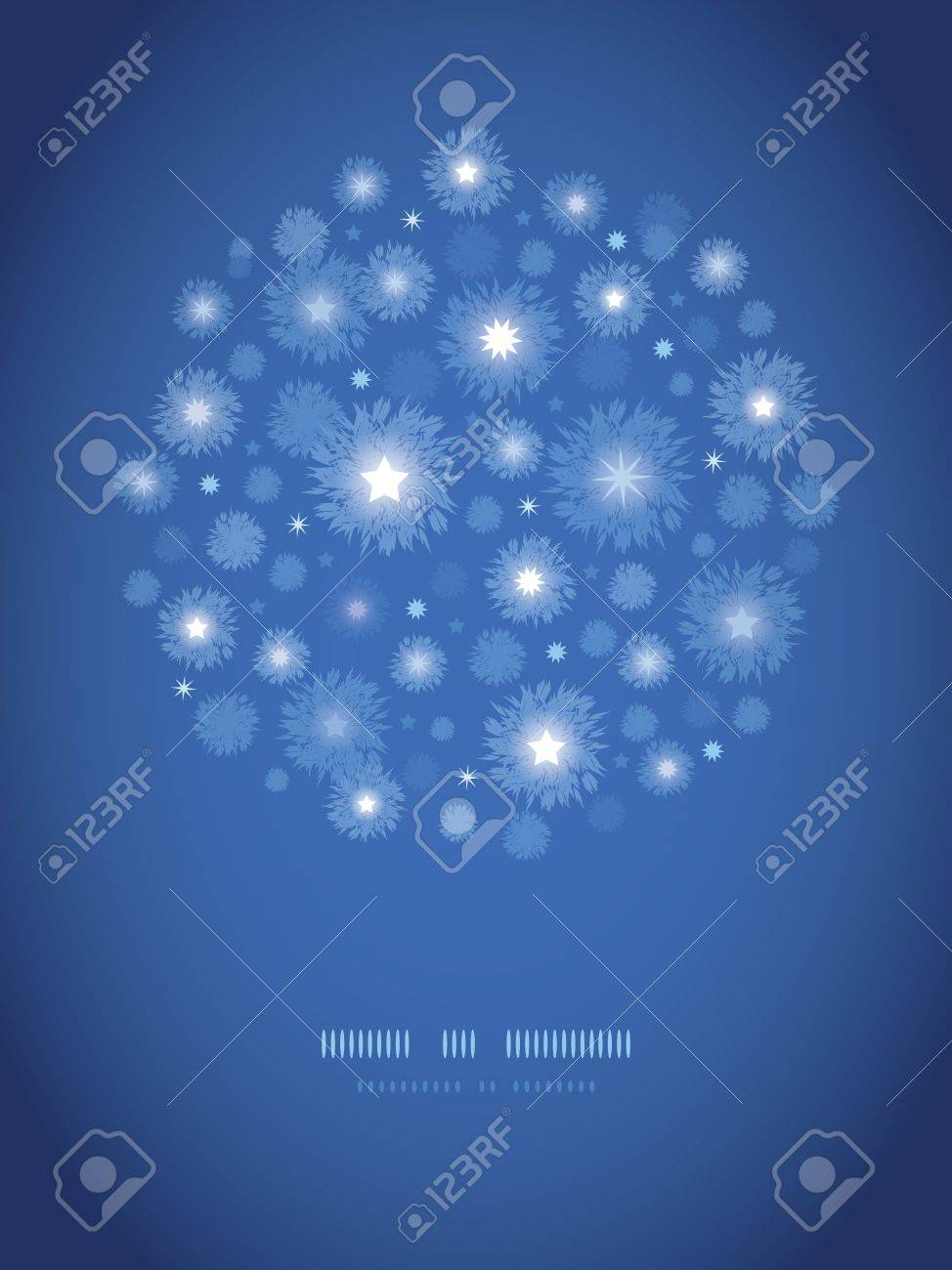 Starry night circle vignette pattern background Stock Vector - 17590971