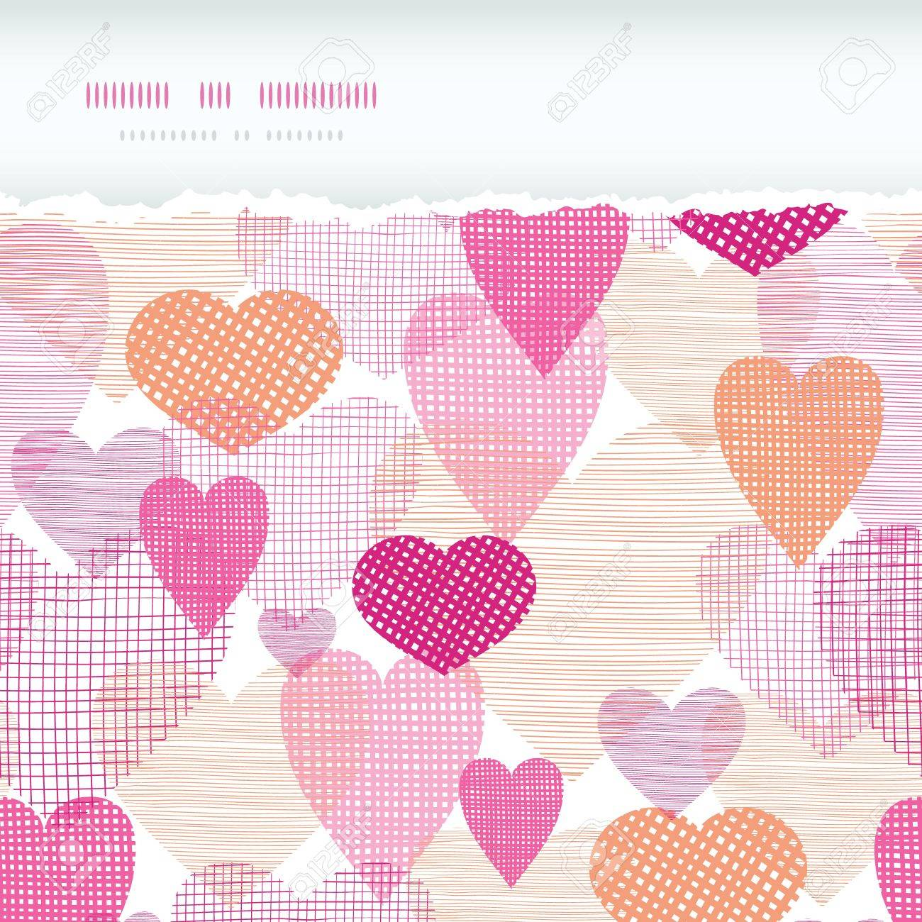 Textured Fabric Hearts Torn Horizontal Seamless Background Royalty Free Cliparts Vectors And Stock Illustration Image 17702970
