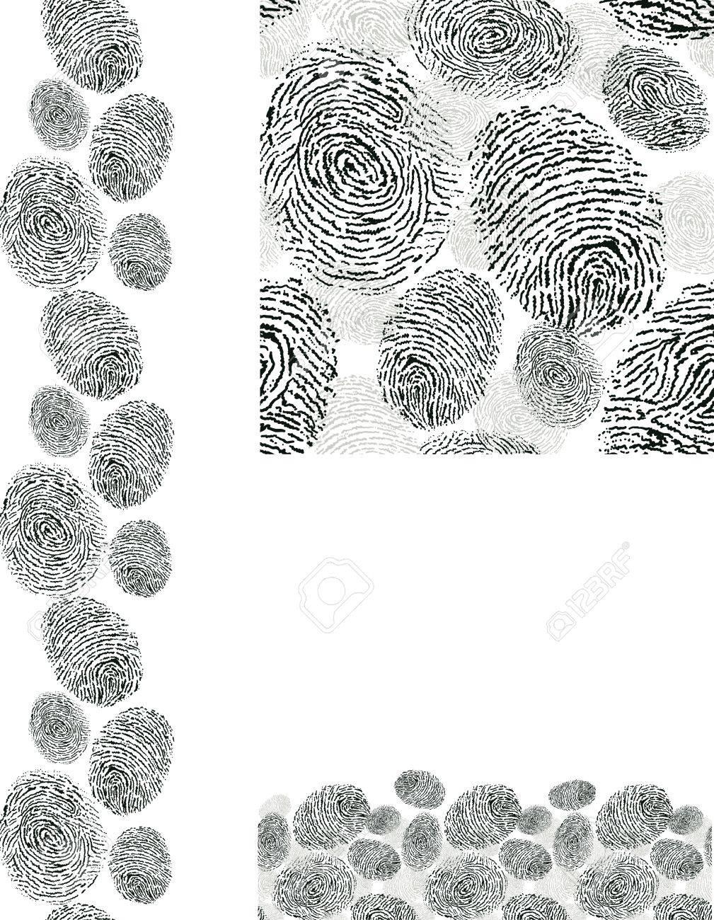Finger print texture seamless pattern backgrounds set Stock Vector - 17835779
