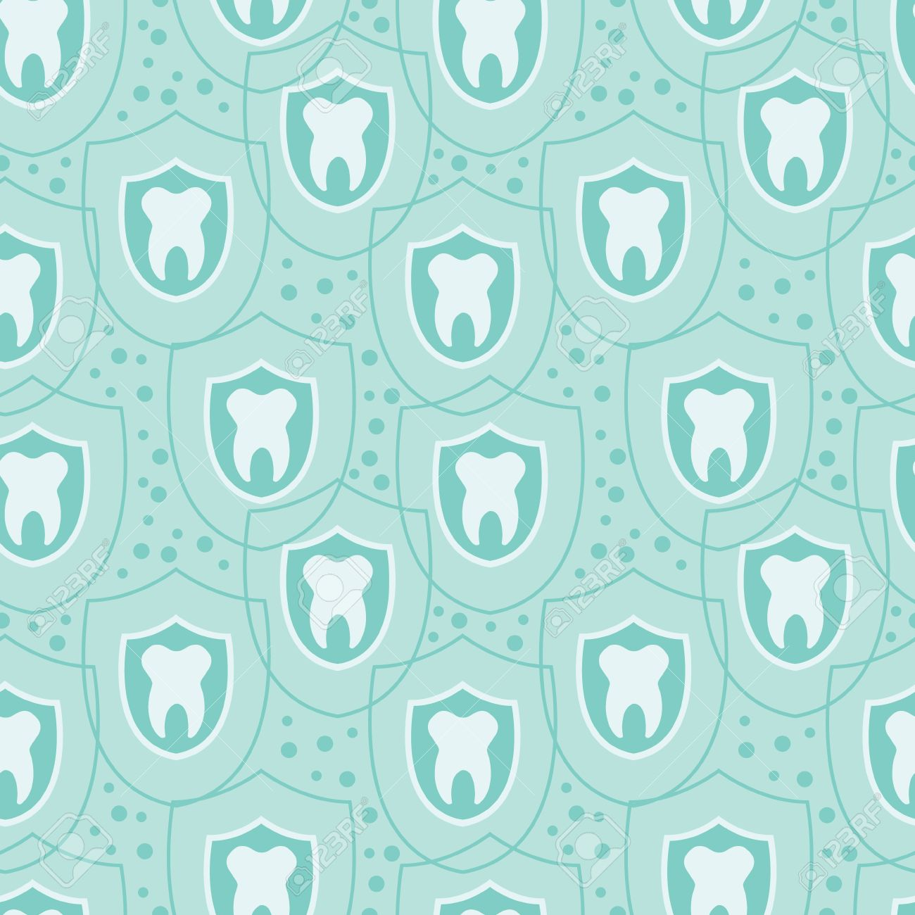 Healthy teeth seamless pattern background Stock Vector - 17965923