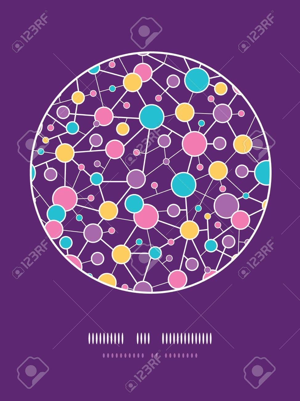 Molecular Structure Circle Seamless Pattern background - 18011785