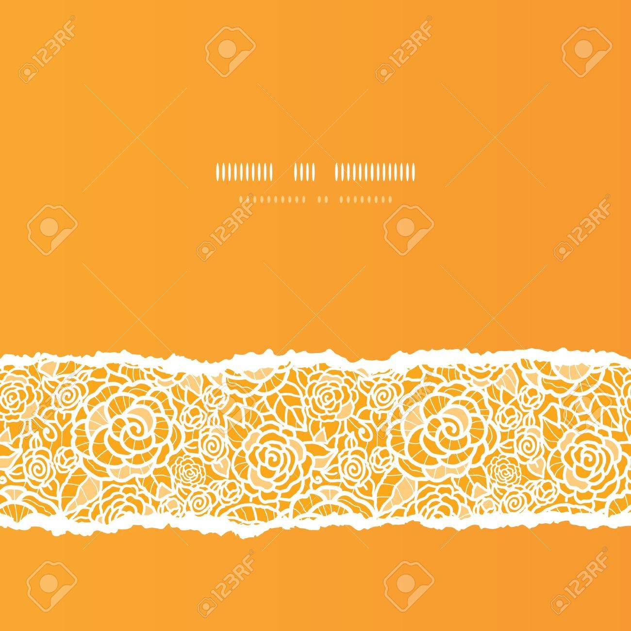 Golden lace roses torn square seamless pattern background Stock Vector - 18166826