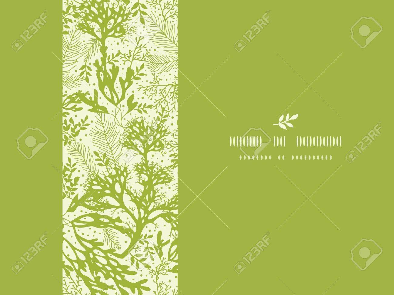Green underwater seaweed horizontal seamless pattern background Stock Vector - 18410317