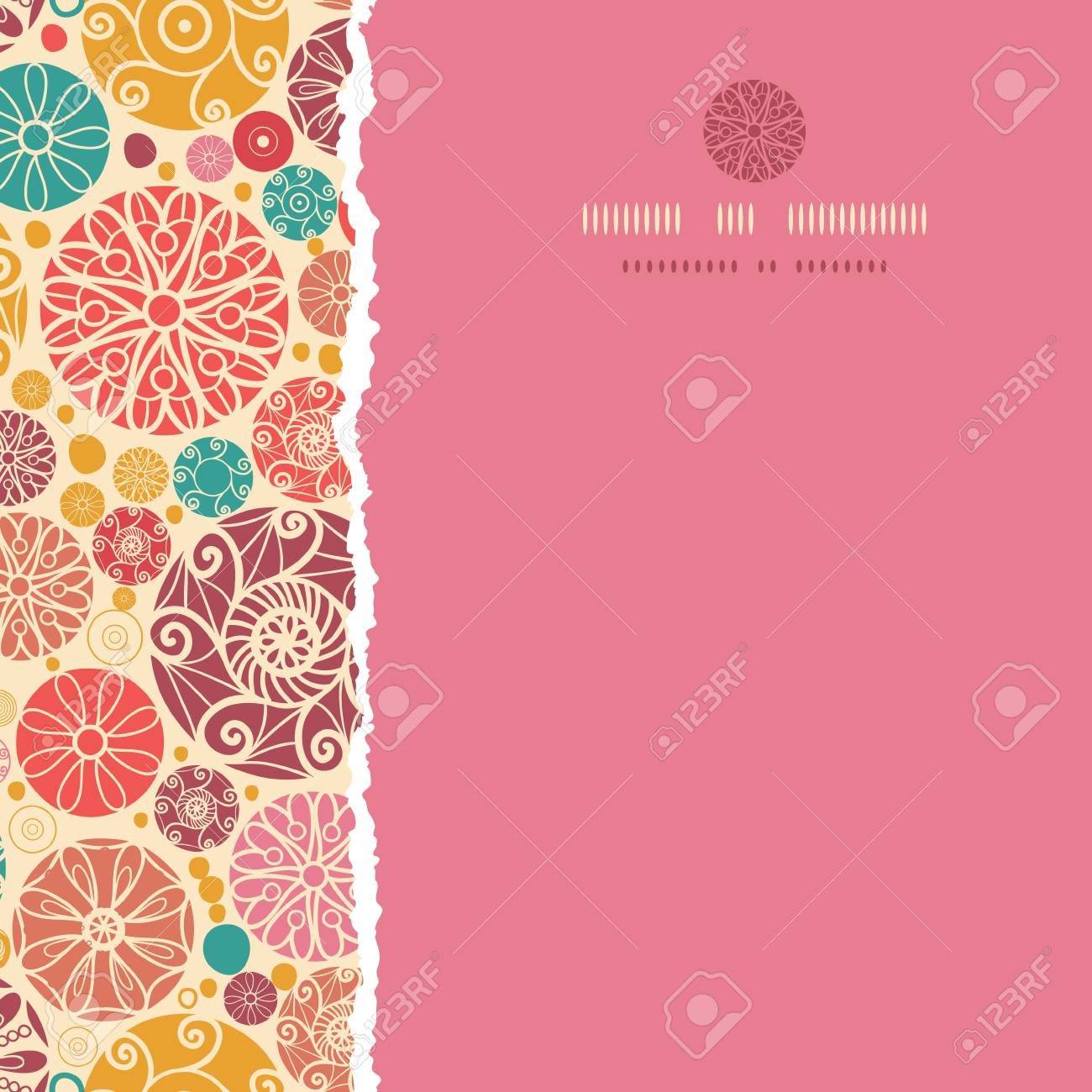 Abstract decorative circles square torn seamless pattern background Stock Vector - 18865186