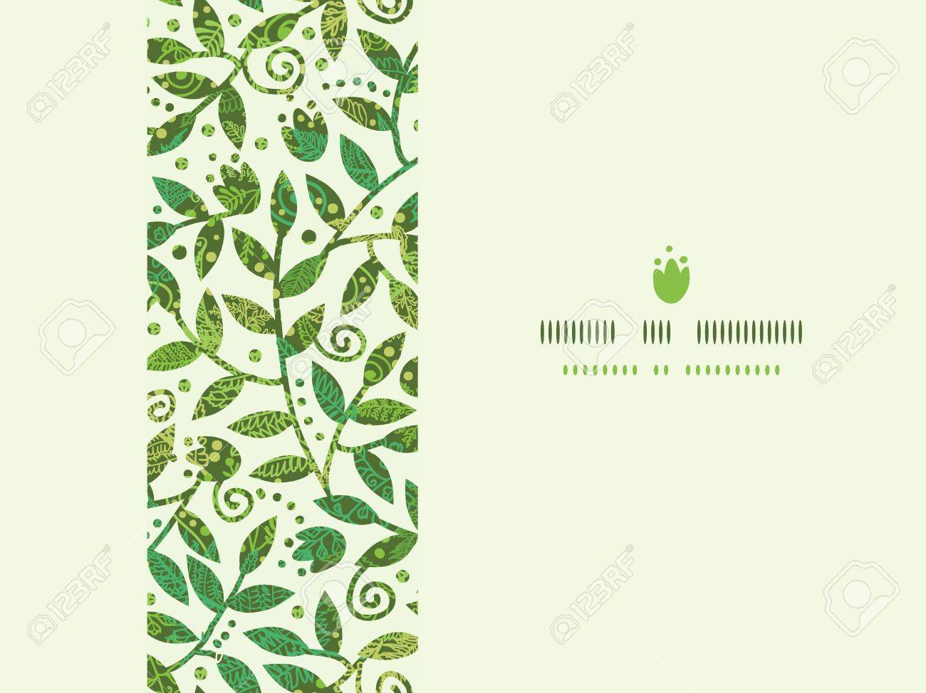 Textured Colorful Branches Horizontal Seamless Pattern Background Stock Vector - 18937835