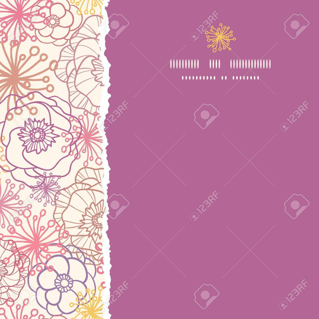 Subtle field flowers square torn seamless pattern background Stock Vector - 19278275