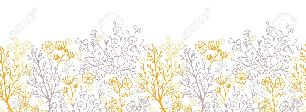 Magical floral horizontal seamless pattern background - 20184970