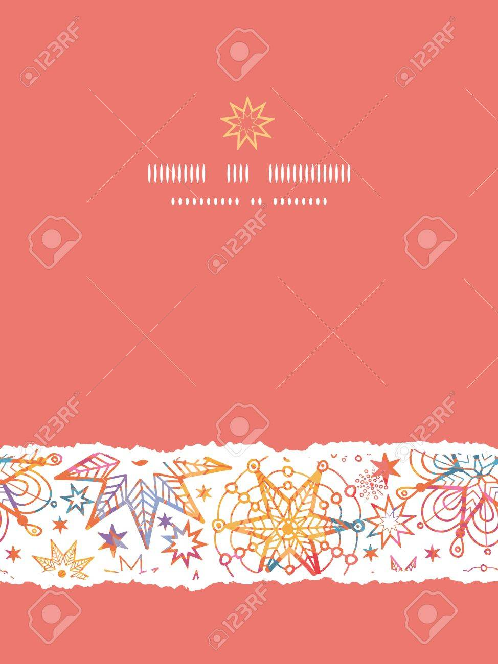 Textured Christmas Stars Vertical Torn Seamless Pattern Background - 20342040