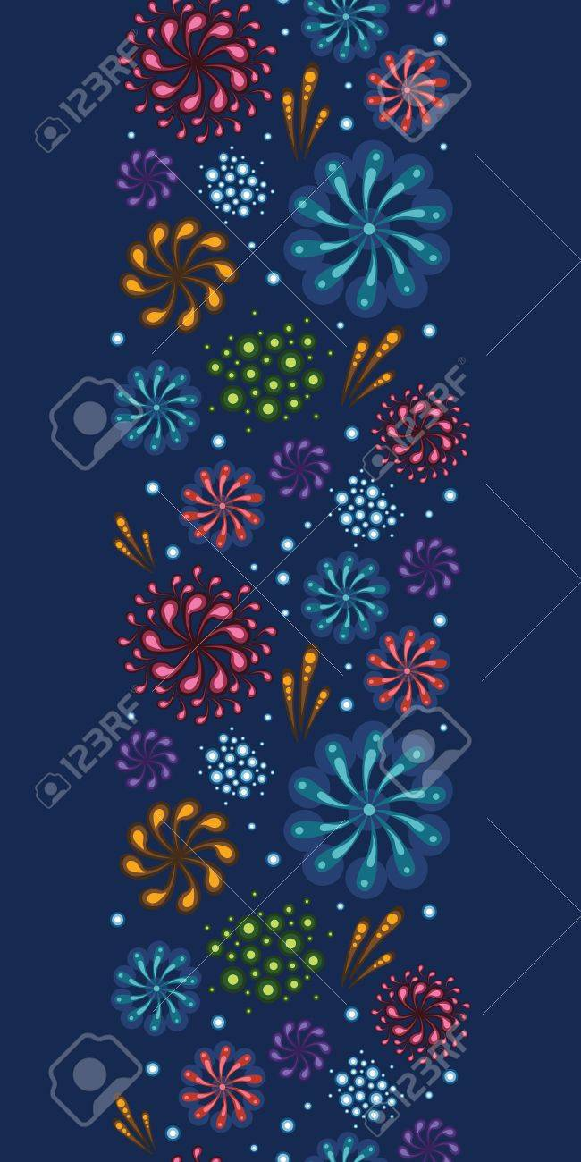 Holiday fireworks vertical seamless pattern background Stock Photo - 21014725