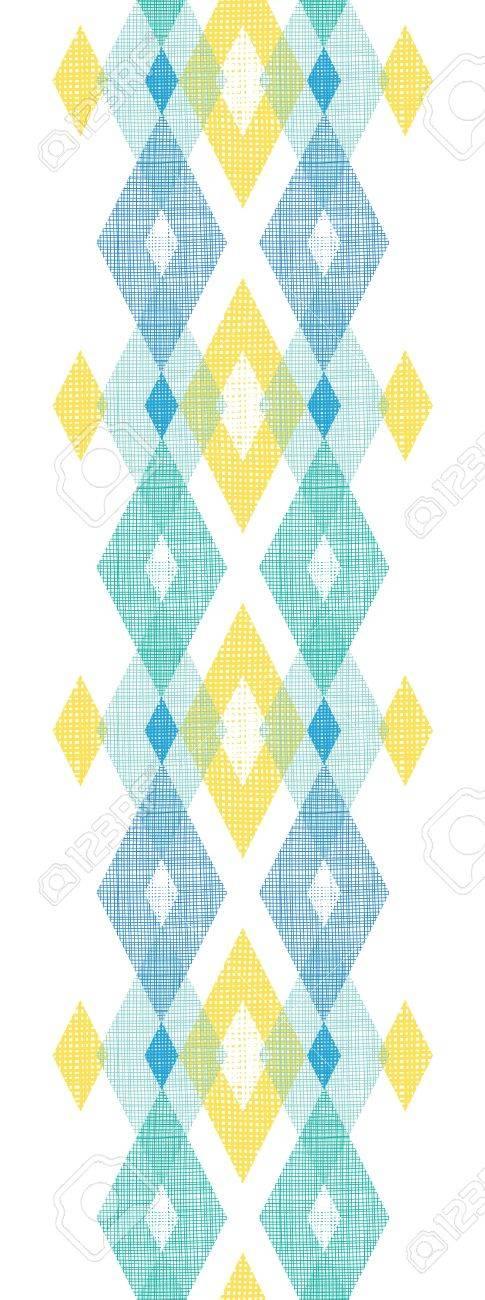 Colorful fabric ikat diamond vertical seamless pattern background Stock Photo - 21263617