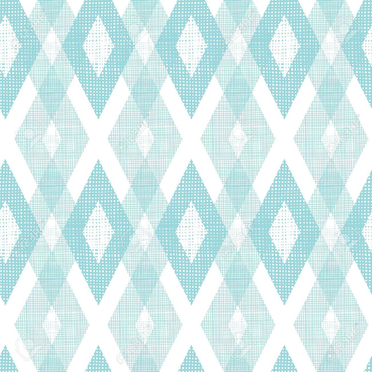 Pastel blue fabric ikat diamond seamless pattern background - 21263924