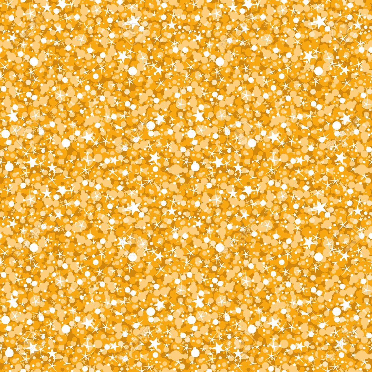 vector golden shiny glitter texture seamless pattern background - 31807570