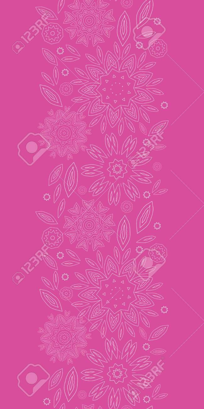 Vettoriale Rosa Fiori Astratti Verticale Texture Pattern Di Sfondo