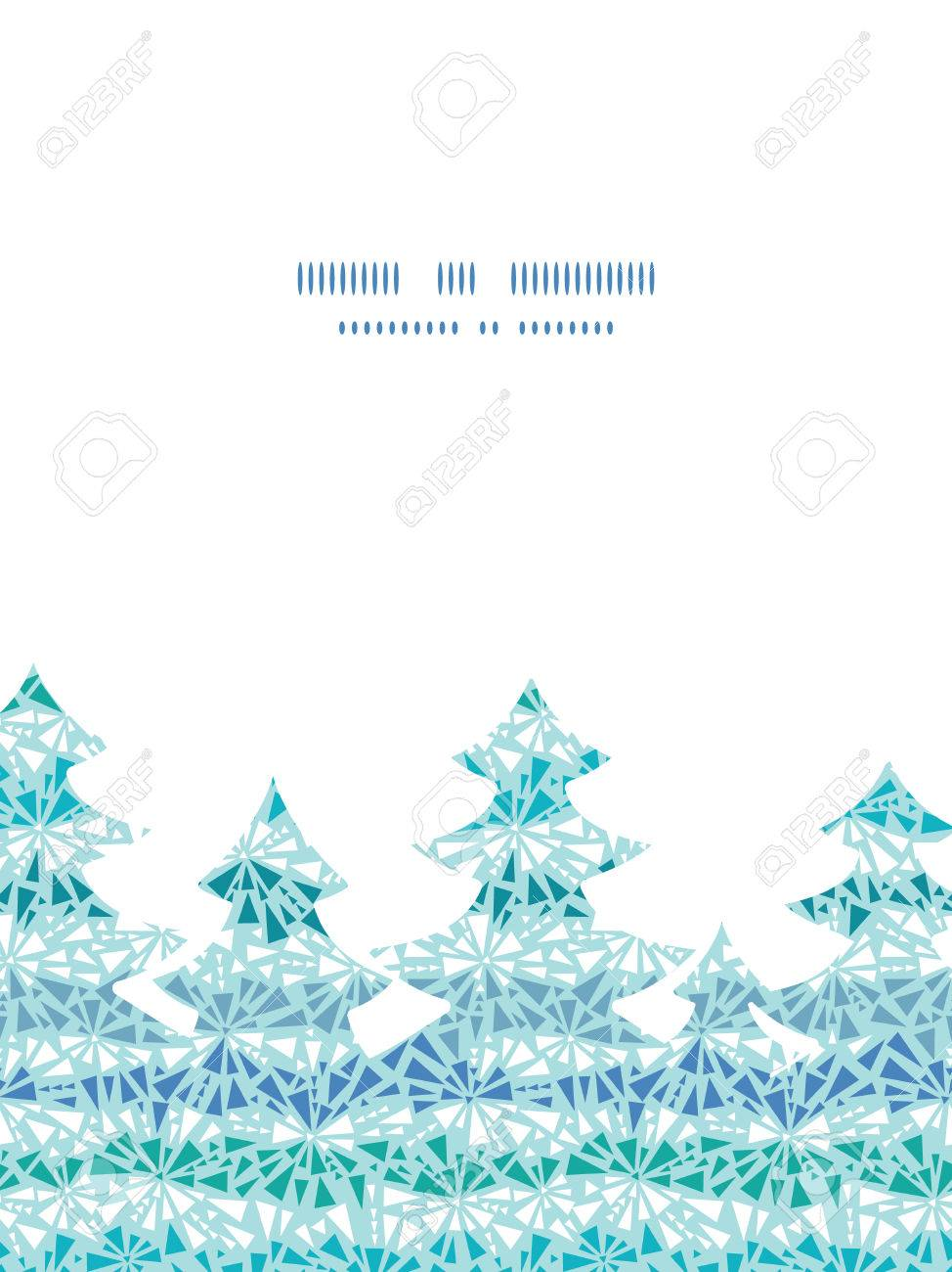 97e32a51655b abstract ice crystals texture Christmas tree silhouette pattern frame card  template Stock Vector - 33104061