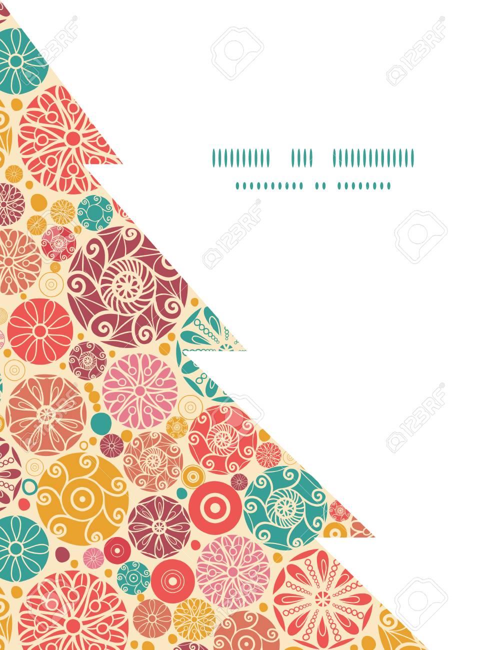 Vector Abstracto Círculos Decorativos Plantilla De Tarjeta De Marco ...