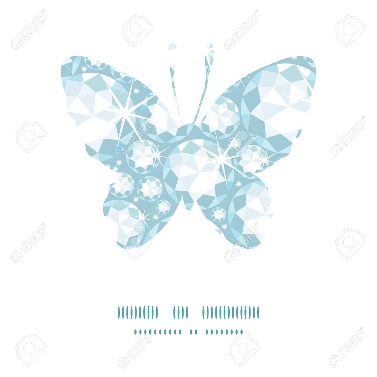 Vector Glänzende Diamanten Schmetterling Silhouette Muster Rahmen ...