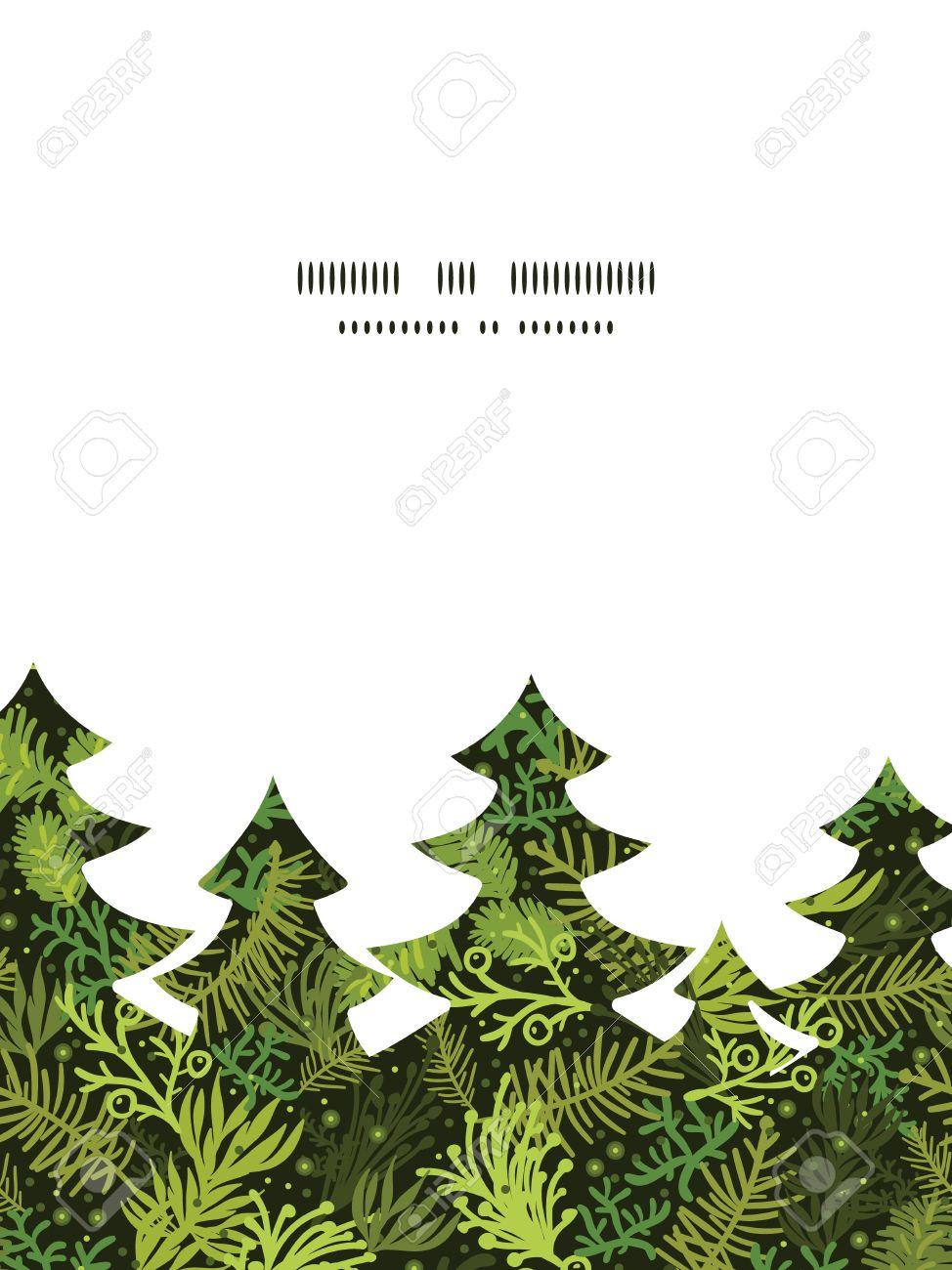 Vector Immergrüner Weihnachtsbaum Weihnachtsbaum Silhouette Muster ...