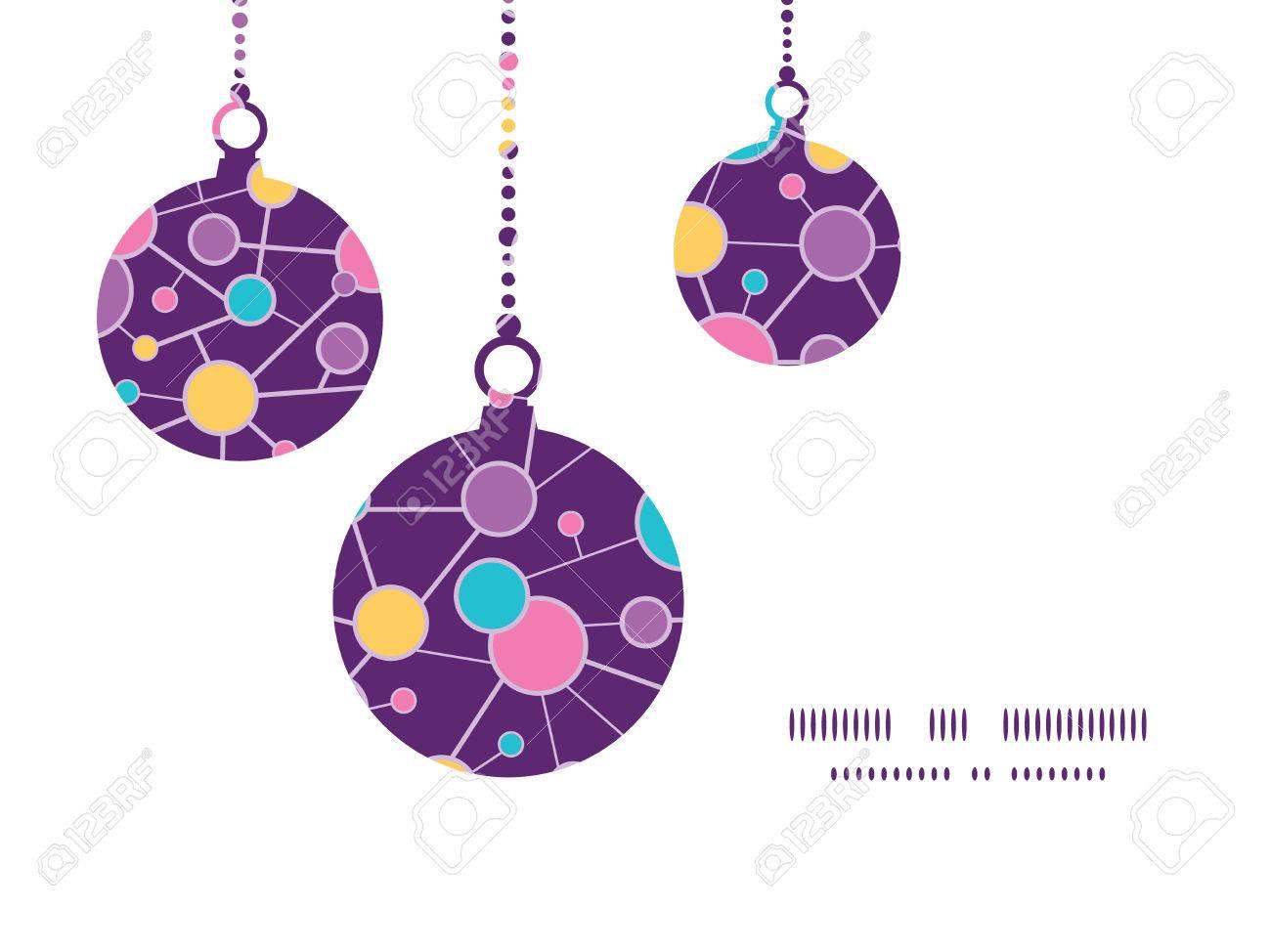 Vector Estructura Molecular Adornos De Navidad Siluetas Plantilla De ...