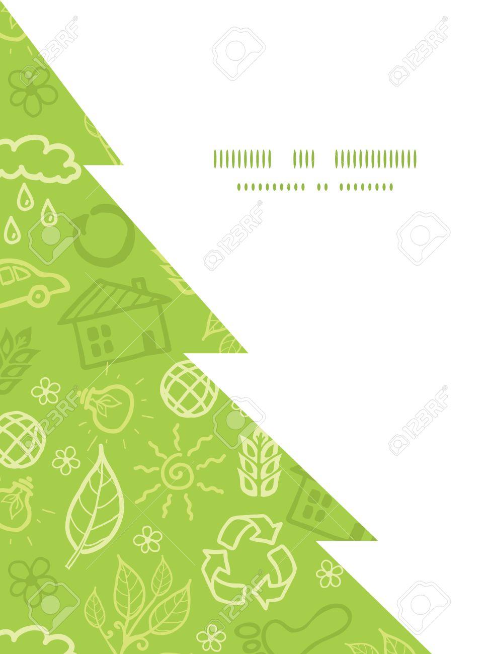 Vector Ambiental Silueta Del árbol De Navidad Plantilla De Tarjeta ...