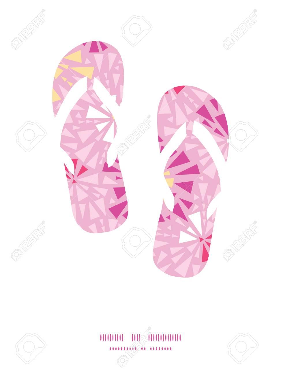 Vector De Color Rosa Flip Flop Triángulos Abstracta Marco Modelo ...