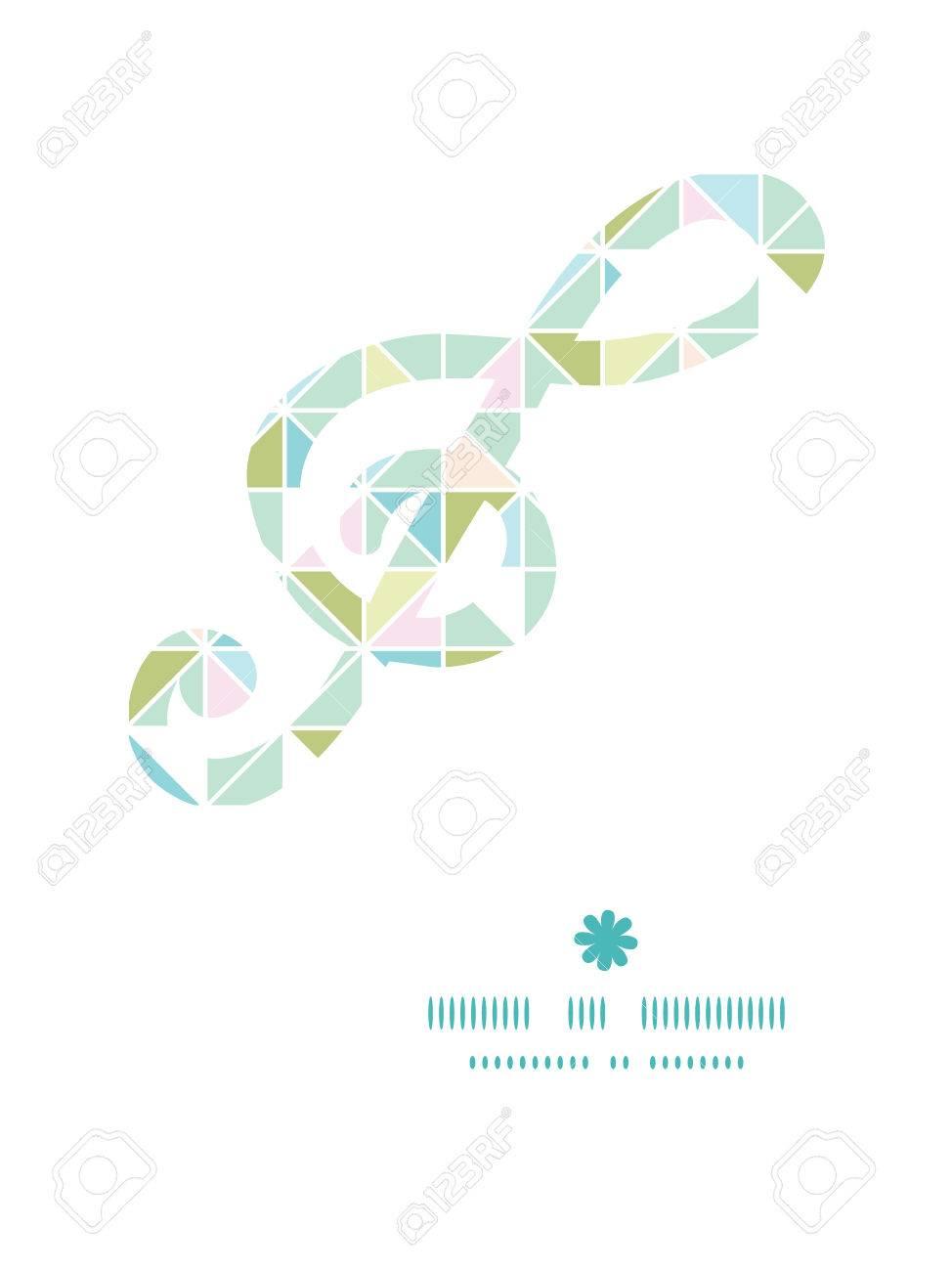 Vector Colorido Pasteles Textura De Triángulo G_clef Marco Modelo ...