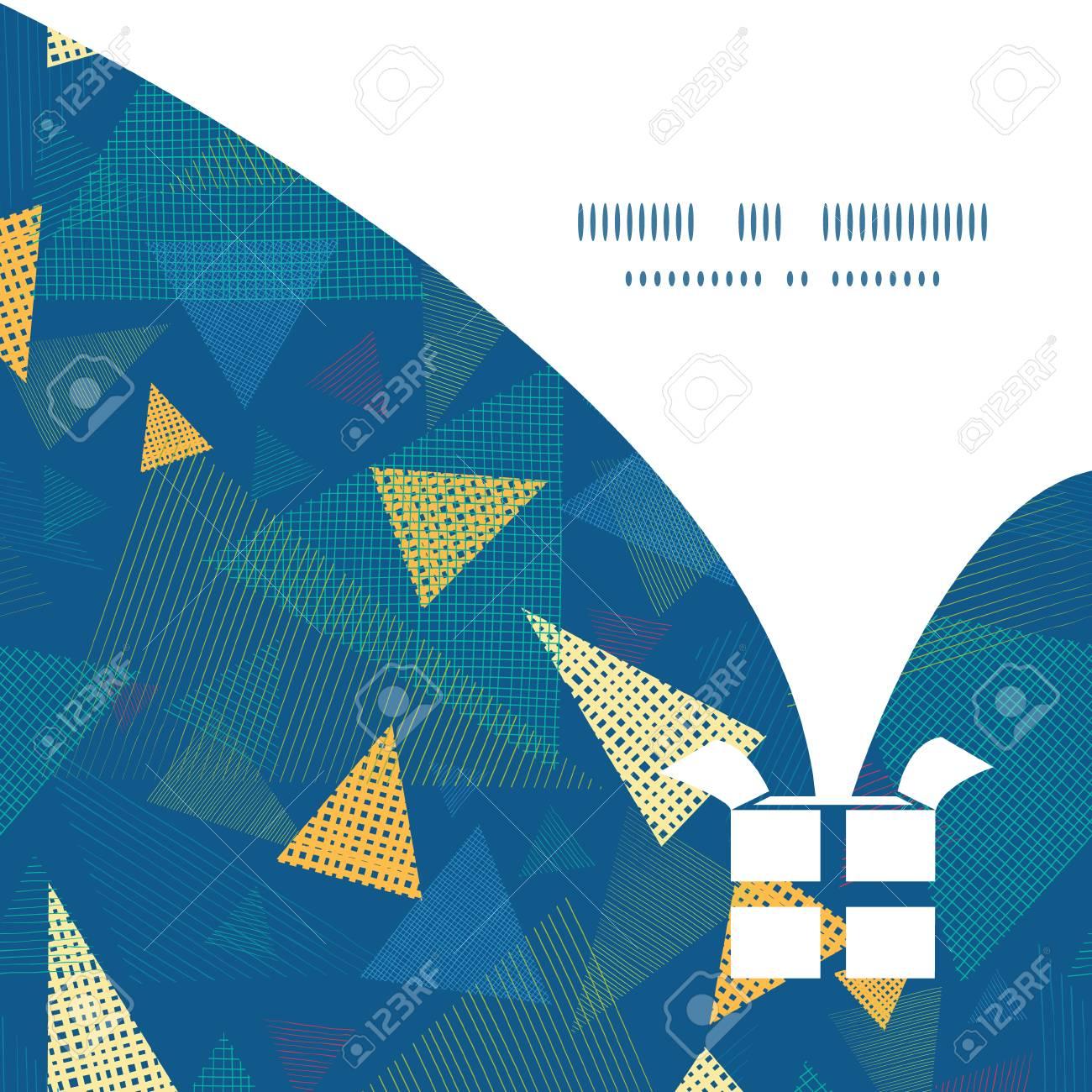 Vector Triángulos De Tela Abstracta De Navidad Caja De Regalo ...