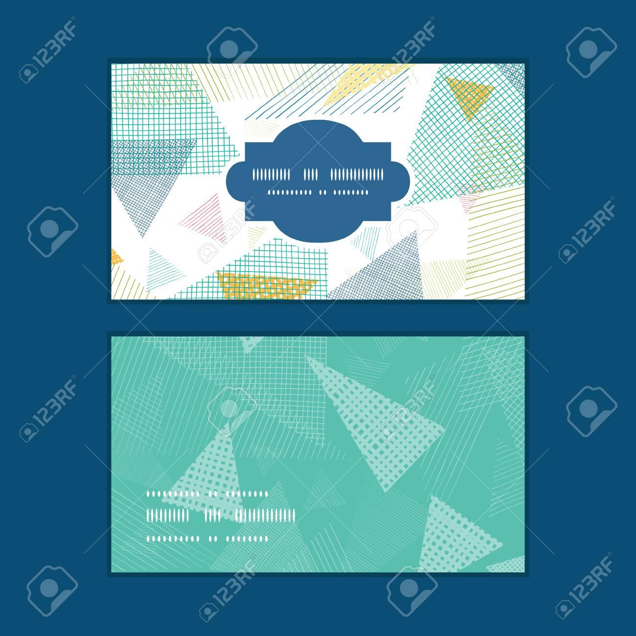 Vector Triangles De Tissu Abstract Frame Forme Horizontal Cartes