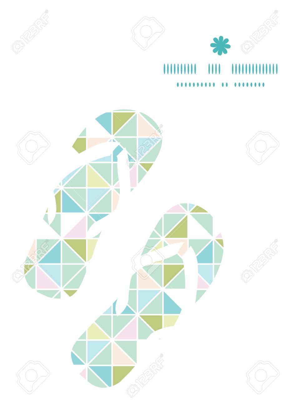 Vector Colorido Pasteles Textura De Triángulo Chanclas Marco Modelo ...