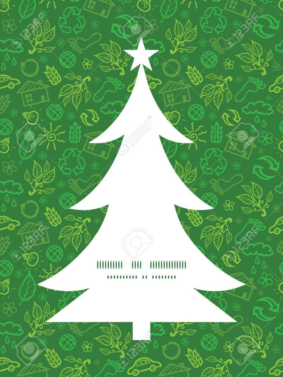 Vector Ökologie Symbole Weihnachtsbaum Silhouette Muster-Rahmen ...