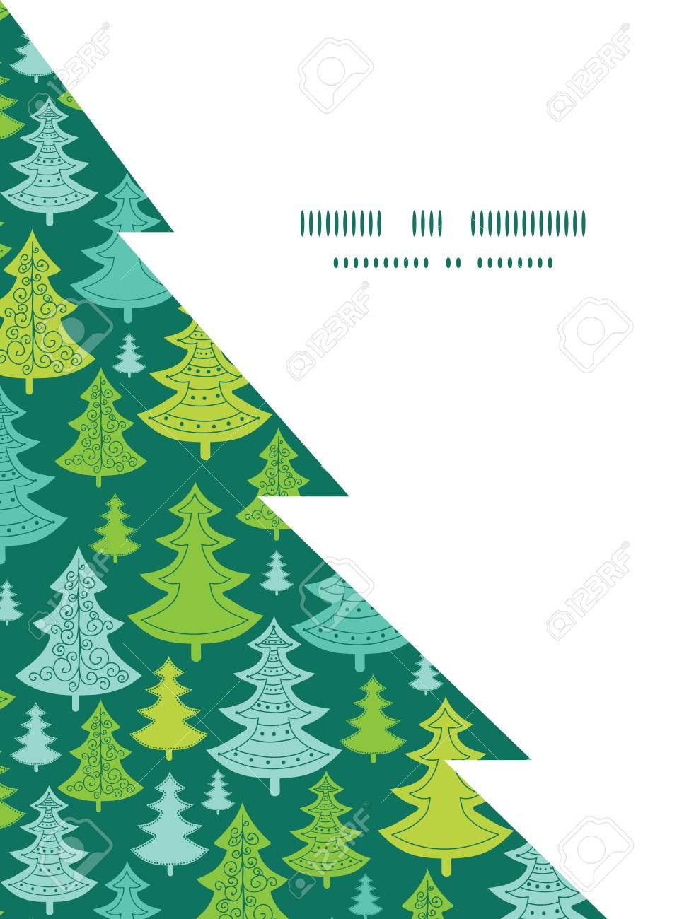 Vektorfeiertagsweihnachtsbäume Weihnachtsbaum Silhouette Muster ...