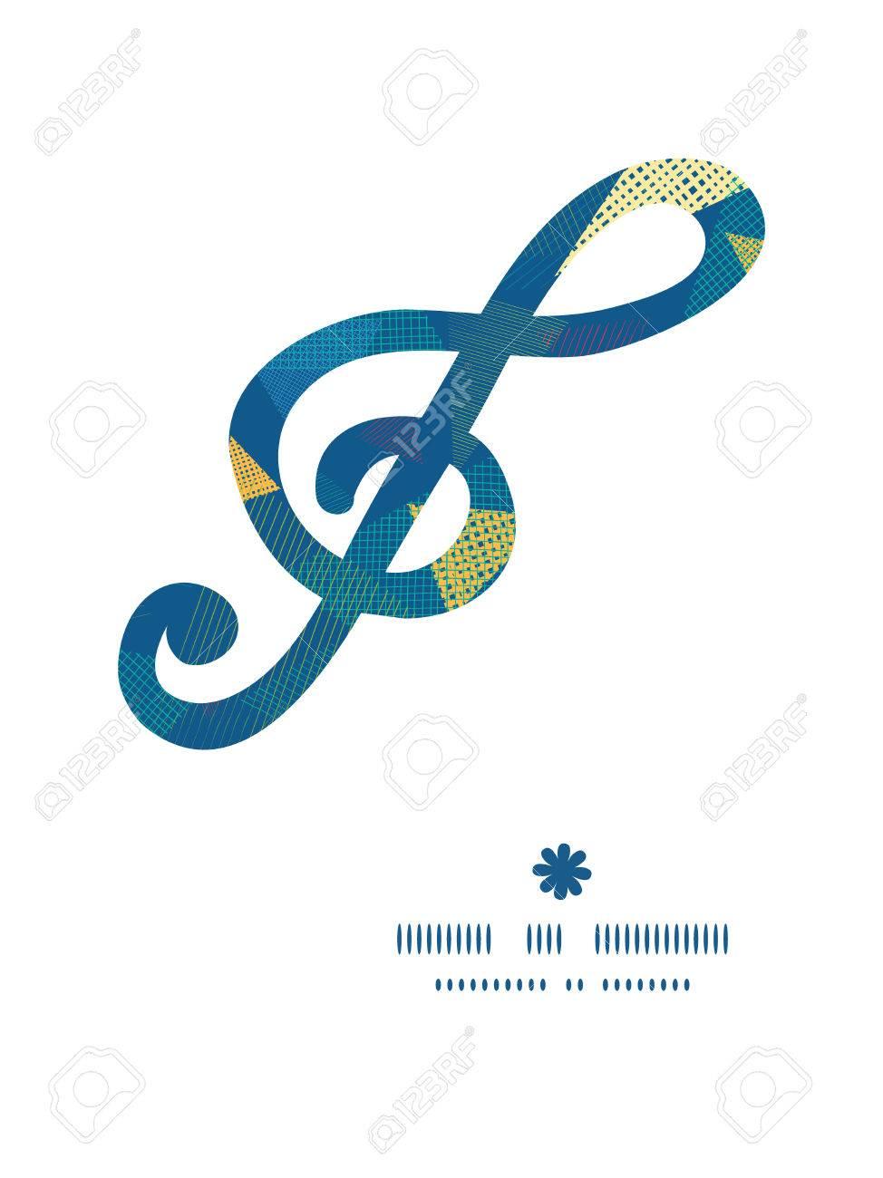 Vector Triángulos De Tela Abstracta G_clef Silueta Musical Marco ...