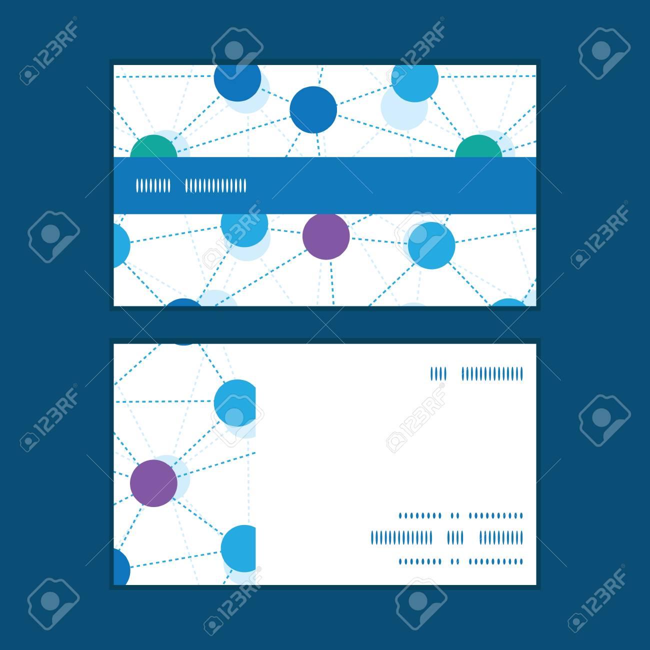 Vector Reli Points Bande Horizontale Motif Dencadrement Cartes De