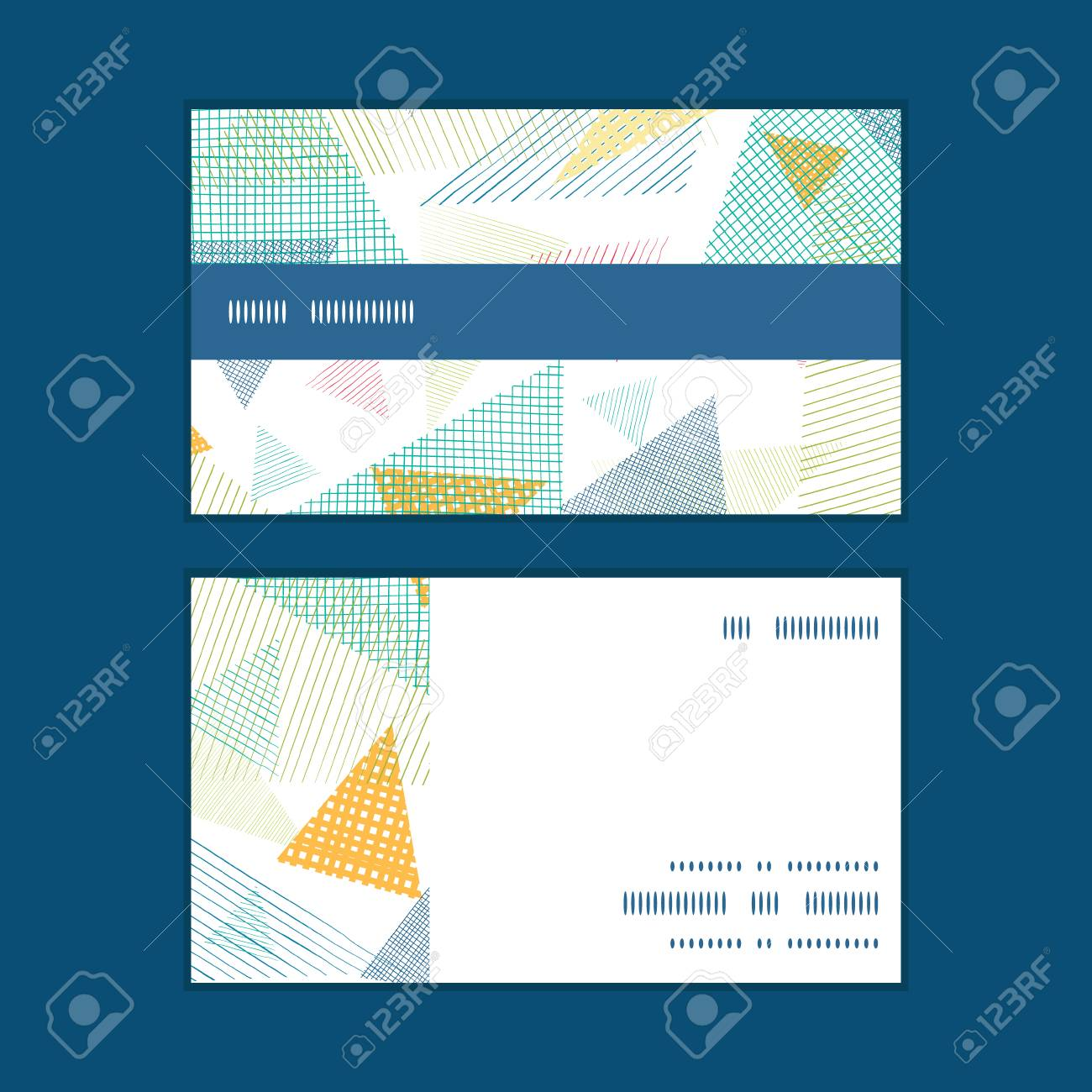 Vector Triangles De Tissu Abstraites Bande Horizontale Motif D
