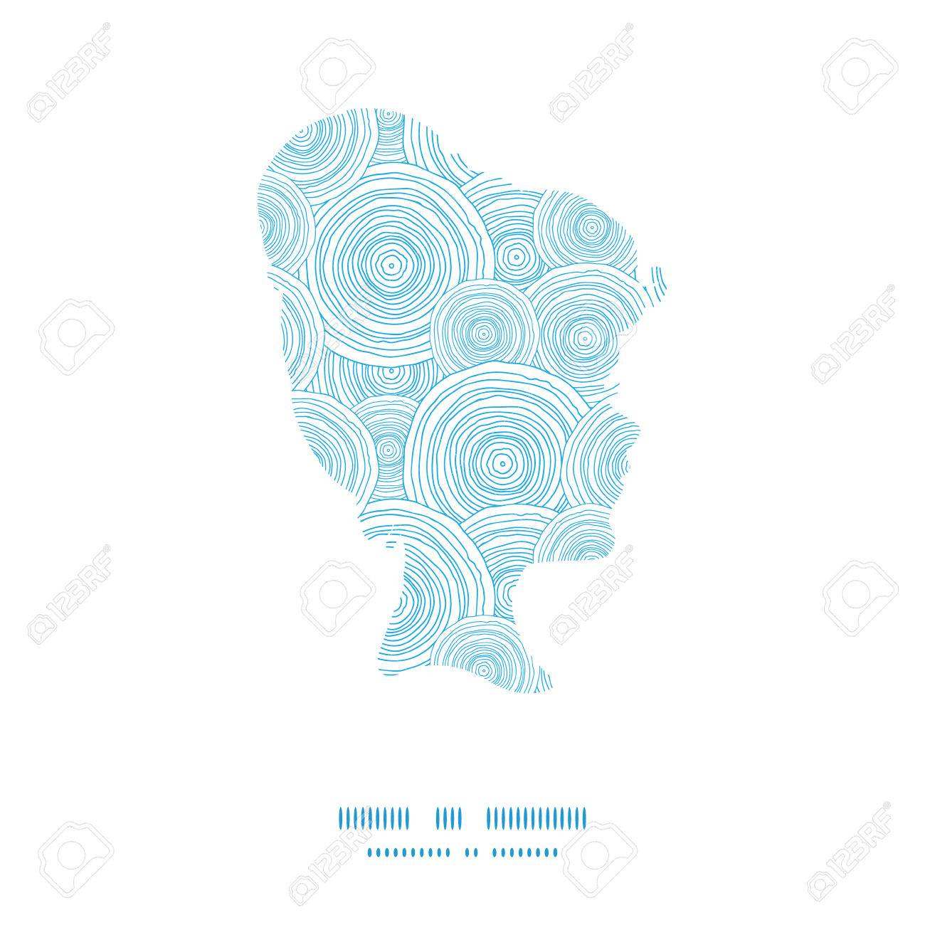 vector doodle circle water texture girl portrait silhouette pattern..  royalty free cliparts, vectors, and stock illustration. image 34901877.  123rf