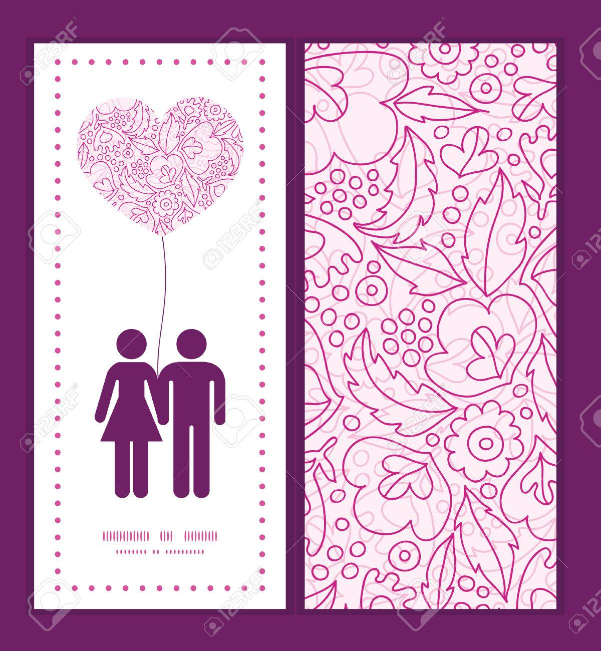 Vector pink flowers lineart couple in love silhouettes frame pattern banco de imagens vector pink flowers lineart couple in love silhouettes frame pattern invitation greeting card template stopboris Image collections